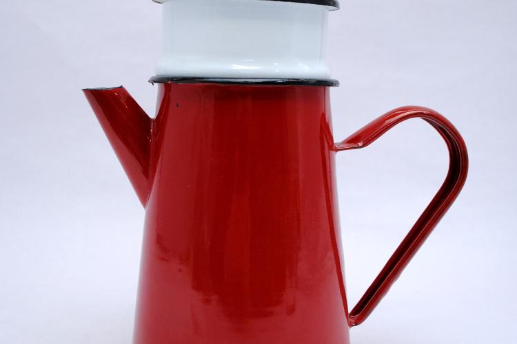 Cafetera de hierro esmaltado Ibili