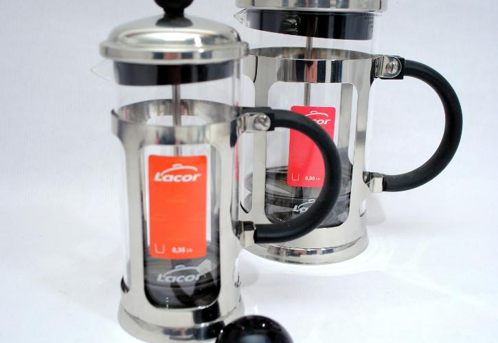 Cafetera de émbolo Inox Lacor