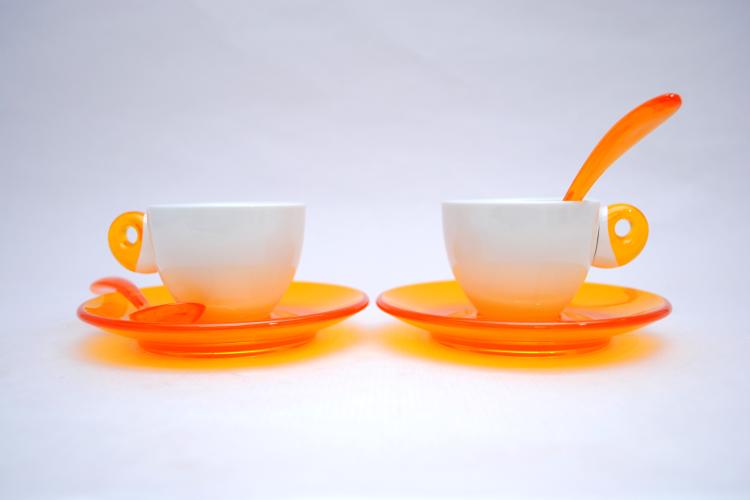 Set de dos tazas espresso Guzzini
